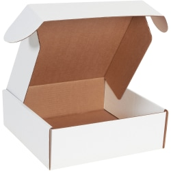 """Office Depot® Brand Deluxe Literature Mailers, 12"""" x 12"""" x 4"""", White, Pack Of 50"""