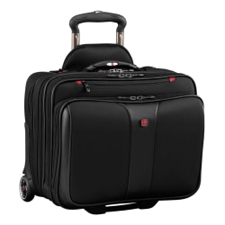 Wenger® Patriot II Polyester Rolling 2-Piece Business Luggage Set, Black