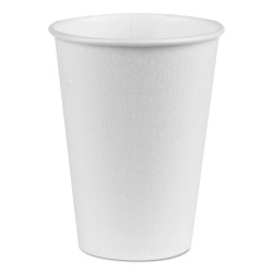 Dixie® PerfecTouch Hot/Cold Cups, 12 Oz, White, 50 Cups Per Bag, Carton Of 20 Bags