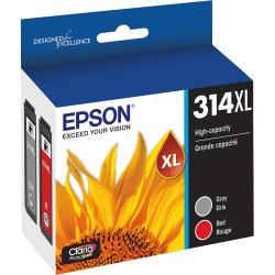Epson Claria Photo HD T314XL Original Ink Cartridge - Multi-pack - Red, Gray - Inkjet - 2 Pack