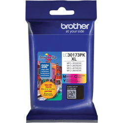 Brother LC30173PK Original Ink Cartridge - Cyan, Magenta, Yellow - Inkjet - High Yield - 550 Pages Cyan, 550 Pages Magenta, 550 Pages Yellow - 1 / Pack