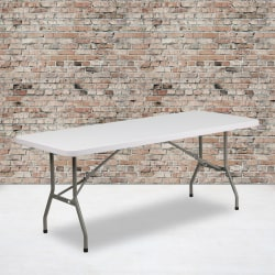 "Flash Furniture Plastic Folding Table, 29""H x 30""W x 72""D, Granite White"