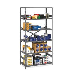 "Tennsco ESP 24""D Commercial Shelving, 5 Shelves, Medium Gray"
