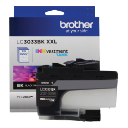 Brother® INKvestment LC3033BKS Super-High-Yield Black Ink Cartridge