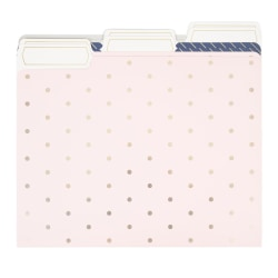 "U Brands Fashion File Folders, 1"" Expansion, Letter Size, Classic Chic, Pack Of 6 Folders"