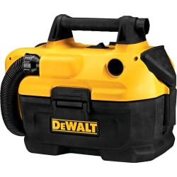 "Dewalt DCV580 18/20V MAX Cordless Wet/Dry Vacuum Cleaner - 2 gal - Bagless - Dry Surface, Wet Surface - 60"" Hose Length"