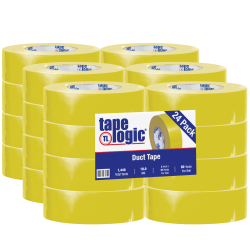 """Tape Logic® Color Duct Tape, 3"""" Core, 2"""" x 180', Yellow, Case Of 24"""