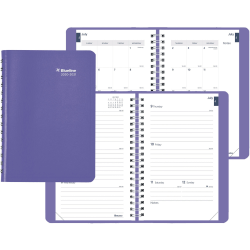"""Rediform Fashion Academic Weekly Planner - Academic/Professional - Monthly, Weekly - 1.1 Year - July 2020 till July 2021 - Twin Wire - Desk - Greek Blue - Vicuana - 8"""" Height x 5"""" Width"""