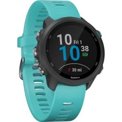"Garmin Forerunner 245 GPS Watch - Wrist - 1.2"" - 240 x 240 - Bluetooth - GPS - 168 Hour - Aqua - Glass Lens - Fiber Reinforced Polymer Case - Silicone Band"