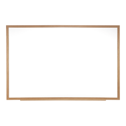 "Ghent Magnetic Dry-Erase Whiteboard, 48-1/2"" x 120-1/2"", Natural Oak Wood Frame"