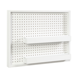 "Sauder® Craft Pro Wall Mount Peg Board With Shelf, 22-1/8""H x 28""W, White"