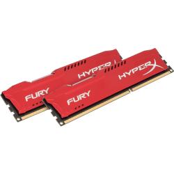 Kingston HyperX Fury 16GB DDR3 SDRAM Memory Module - For Desktop PC - 16 GB (2 x 8 GB) DDR3 SDRAM - CL10 - 1.50 V - Non-ECC - Unbuffered - 240-pin - DIMM