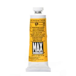 Grumbacher Max Water Miscible Oil Colors, 1.25 Oz, Cadmium Barium Yellow Medium