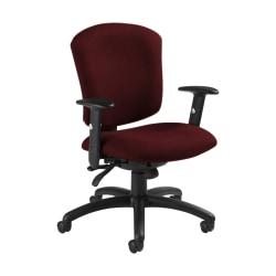 "Global® Supra X Mid-Back Multi-Tilter Chair, 38 1/2""H x 25 1/2""W x 23""D, Red Rose/Black"