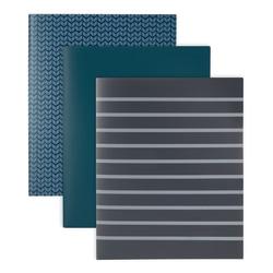 "Office Depot® Brand 2-Pocket Portfolio, Letter Size, 8-1/2"" x 11"", Assorted Blue Colors"