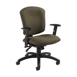 "Global® Supra X Mid-Back Multi-Tilter Chair, 38 1/2""H x 25 1/2""W x 23""D, Sandcastle/Black"