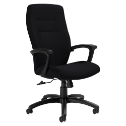"Global® Synopsis Tilter Chair, High-Back, 43 1/2""H x 24 1/2""W x 26 1/2""D, Ebony/Black"