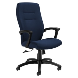 """Global® Synopsis Tilter Chair, High-Back, 43 1/2""""H x 24 1/2""""W x 26 1/2""""D, Admiral/Black"""