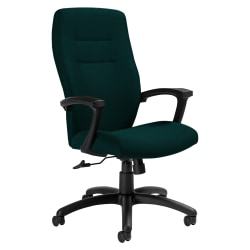 """Global® Synopsis Tilter Chair, High-Back, 43 1/2""""H x 24 1/2""""W x 26 1/2""""D, Spruce/Black"""