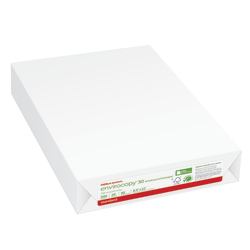 """Office Depot® Brand EnviroCopy® Paper, 3-Hole Punched, Letter Size (8 1/2"""" x 11""""), 20 Lb, 30% Recycled, FSC® Certified, White, Ream Of 500 Sheets"""