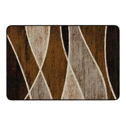 "Flagship Carpets Waterford Rectangular Area Rug, 48"" x 72"", Chocolate"