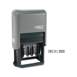 Xstamper Economy Self-Inking 4-Year Dater - Date Stamp - Black - Plastic - 1 Each
