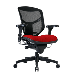 WorkPro® Quantum 9000 Series Mesh/Fabric Mid-Back Manager's Desk Chair, Cherry/Black