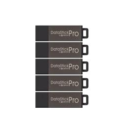 Centon DataStick Pro USB Flash Drives, USB 2.0, 32GB, Gray, Pack Of 5, S1-U2P5-32-5B