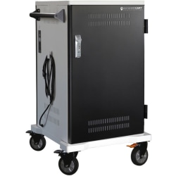 """Anywhere Cart 36 Bay Pre-Wired USB-C Cart - 4 Casters - 5"""" Caster Size - Metal - 26"""" Width x 26"""" Depth x 44"""" Height - For 36 Devices"""