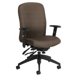 Global® Truform Multi-Tilter Chair, High-Back, Earth/Black