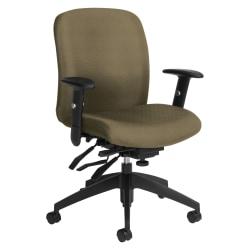 Global® Truform Multi-Tilter Chair, Mid-Back, Beach Day/Black