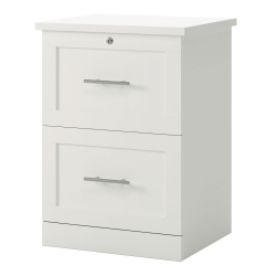 "Realspace® 2-Drawer 17""D Vertical File Cabinet, White"