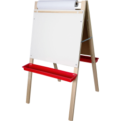 "Flipside Adjustable Paper Roll Easel, 48"" x 24"", White/Green"