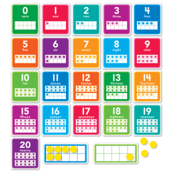 Scholastic 0-20 Numbers Bulletin Board Set, Pre-K To 1st Grade