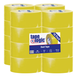 "Tape Logic® Color Duct Tape, 3"" Core, 3"" x 180', Yellow, Case Of 16"