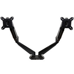 """StarTech.com Dual Monitor Arm - USB Hub and Audio Ports in Base - Monitors up to 32"""" - VESA Monitor Stand Desk Mount"""