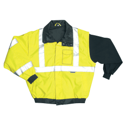 OccuNomix Polyester Bomber Jacket, 2X, Orange
