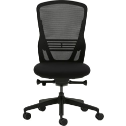 Allermuir Ousby Ergonomic Fabric Mid-Back Task Chair, Ink/Black