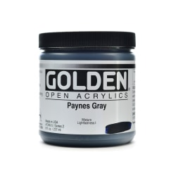 Golden OPEN Acrylic Paint, 8 Oz Jar, Payne's Gray