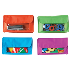 "Learning Resources Magnetic Storage Pockets, 9 1/2"" x 5 1/2"", Assorted Colors, Pack Of 4"