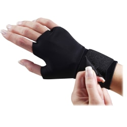 Dome Flex-Fit Therapeutic Support Gloves, Medium, Black