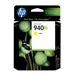 HP 940XL, Yellow Original Ink Cartridge (C4909AN)