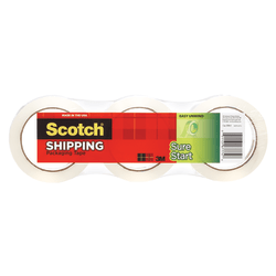 """Scotch® Sure Start Shipping Tape, 3"""" Core, 1 7/8"""" x 800"""", Clear, Pack Of 3"""