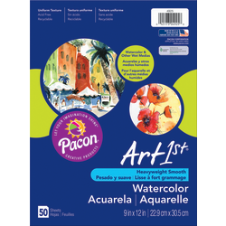 "Art1st® Watercolor Paper, 9"" x 11"", Pack Of 50 Sheets"