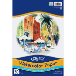 "Art1st® Watercolor Paper, 12"" x 18"", Pack Of 50 Sheets"