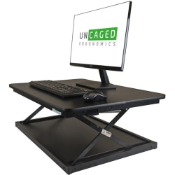 "Uncaged Ergonomics CHANGEdesk Mini Standing Desk Conversion - 1 x Shelf(ves) - 4"" Height x 21"" Width - Desktop - Steel, Medium Density Fiberboard (MDF) - Black"