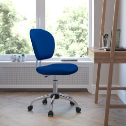 Flash Furniture Mesh Mid-Back Swivel Task Chair, Blue/Silver