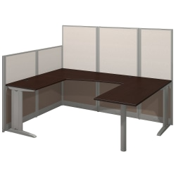 Bush Business Furniture Office In An Hour U Workstation, Mocha Cherry Finish, Standard Delivery