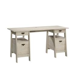 Sauder®Trestle Executive Desk, Chalked Chestnut