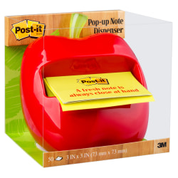 Post-it® Notes Pop-Up Note Red Apple Dispenser
